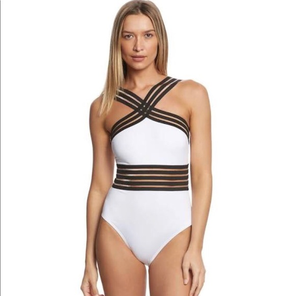 a31b7c75121 Kenneth Cole Other - Kenneth Cole White One Piece Illusion Swimsuit - L